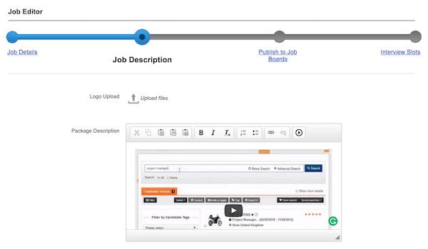 Job editor