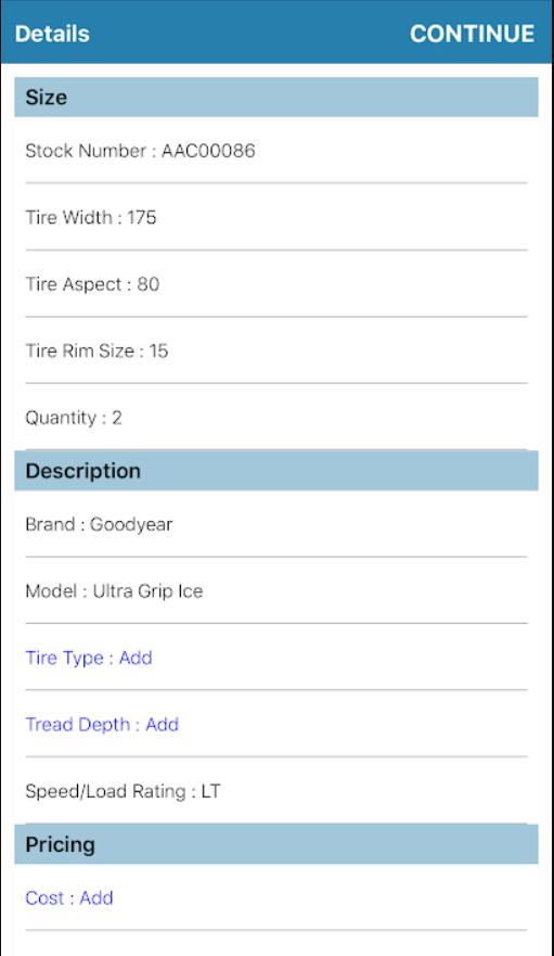 Input details