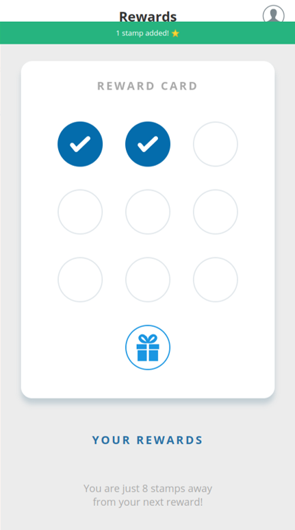 Loyalty app interface
