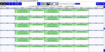 Client schedule page