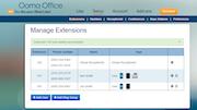 Admin dashboard Ooma Office