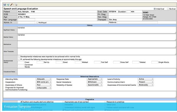Evaluation template