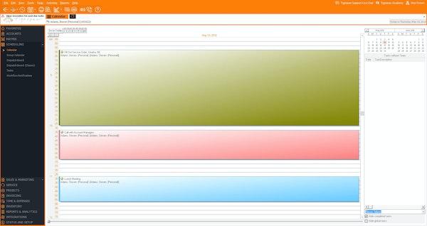 Web calendar view