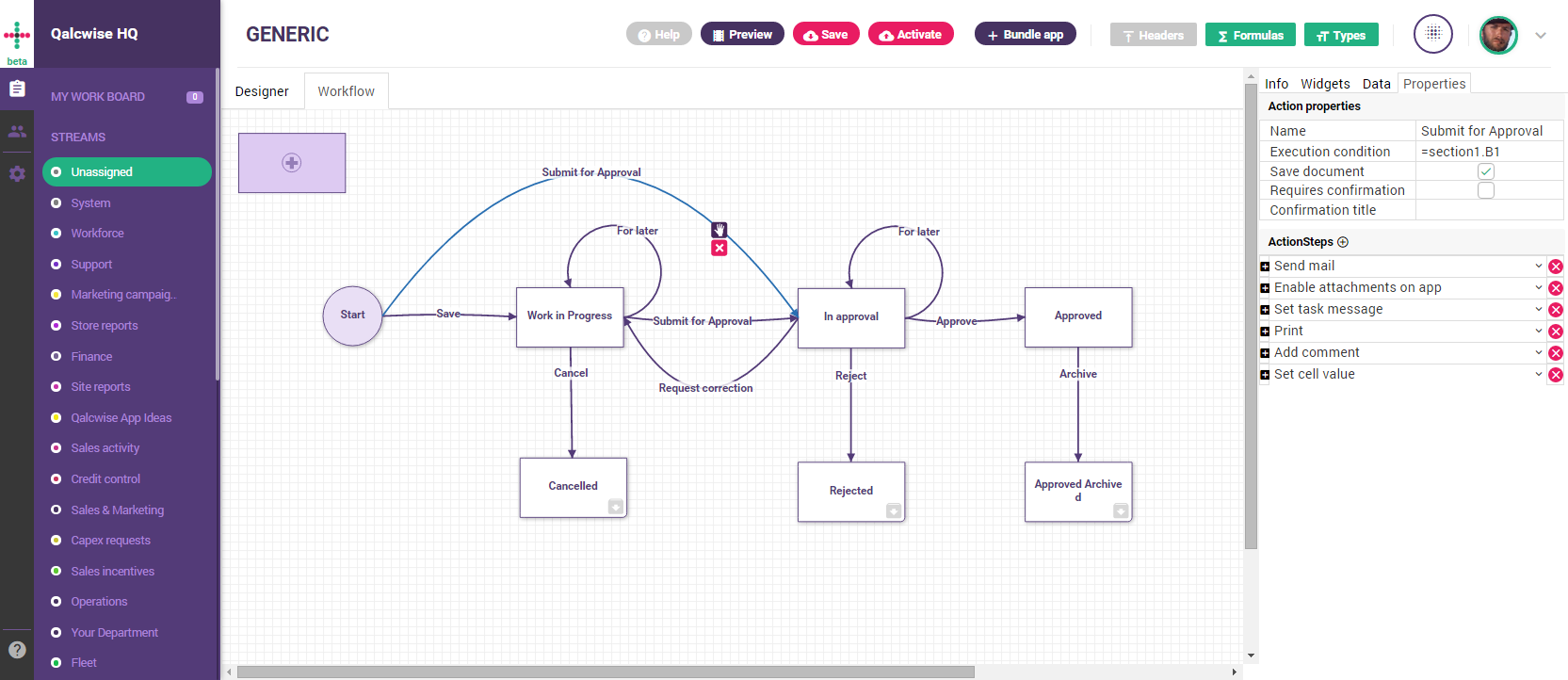 Workflow visualization