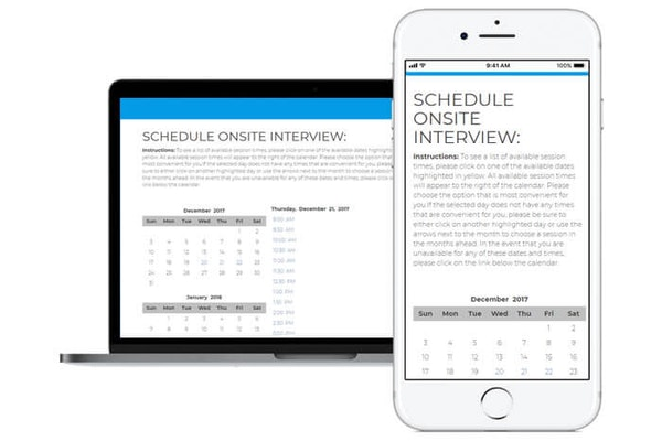 Interview self scheduling