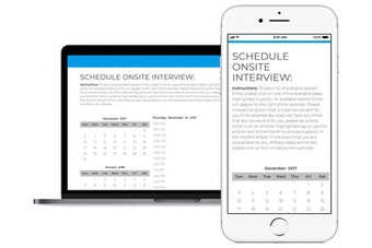 Interview self scheduling