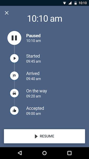 Mobile View - Job Status