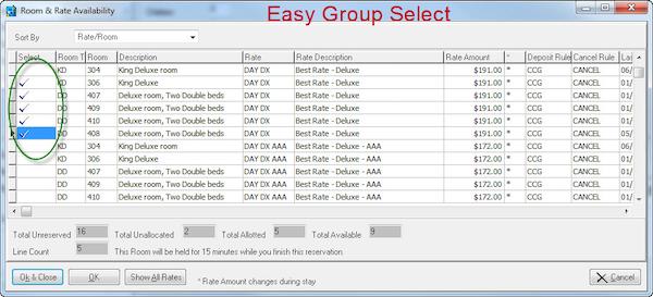 Group select