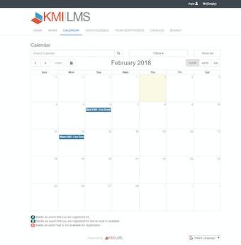 Live event calendar
