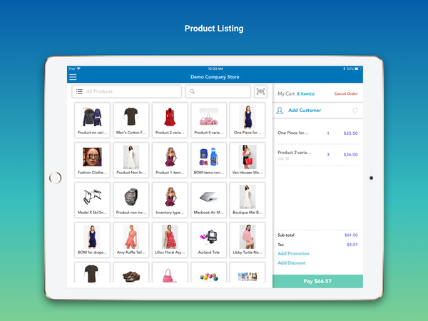 Product listing