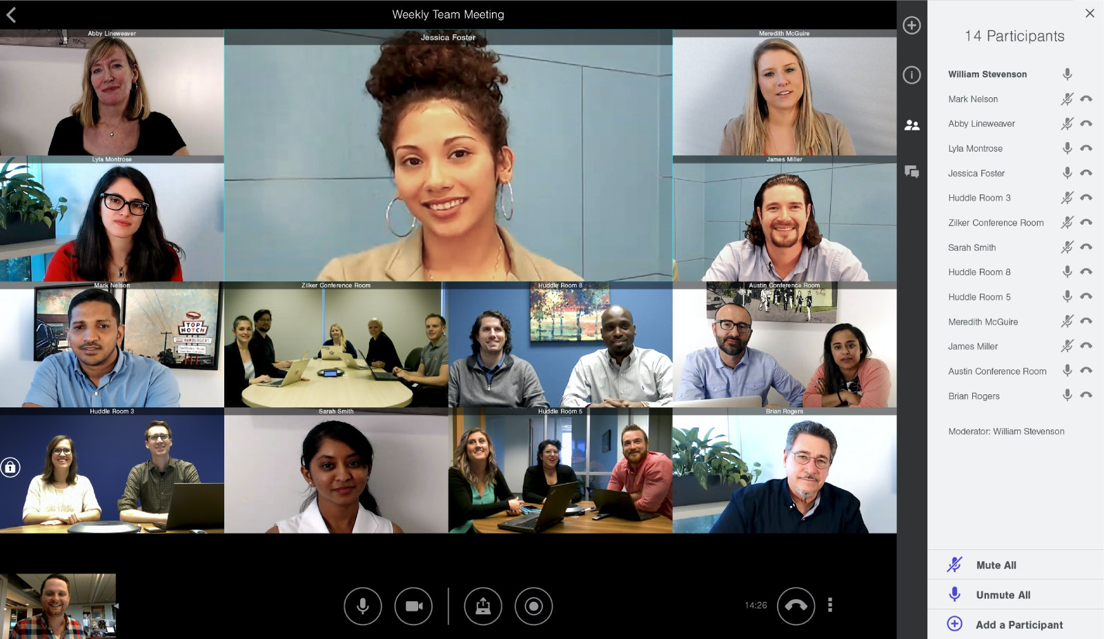 Group video conference