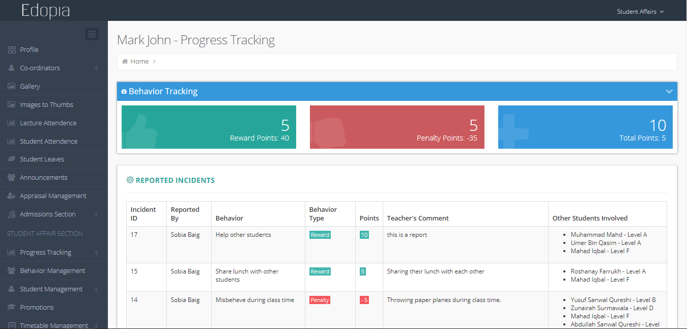 Progress tracking