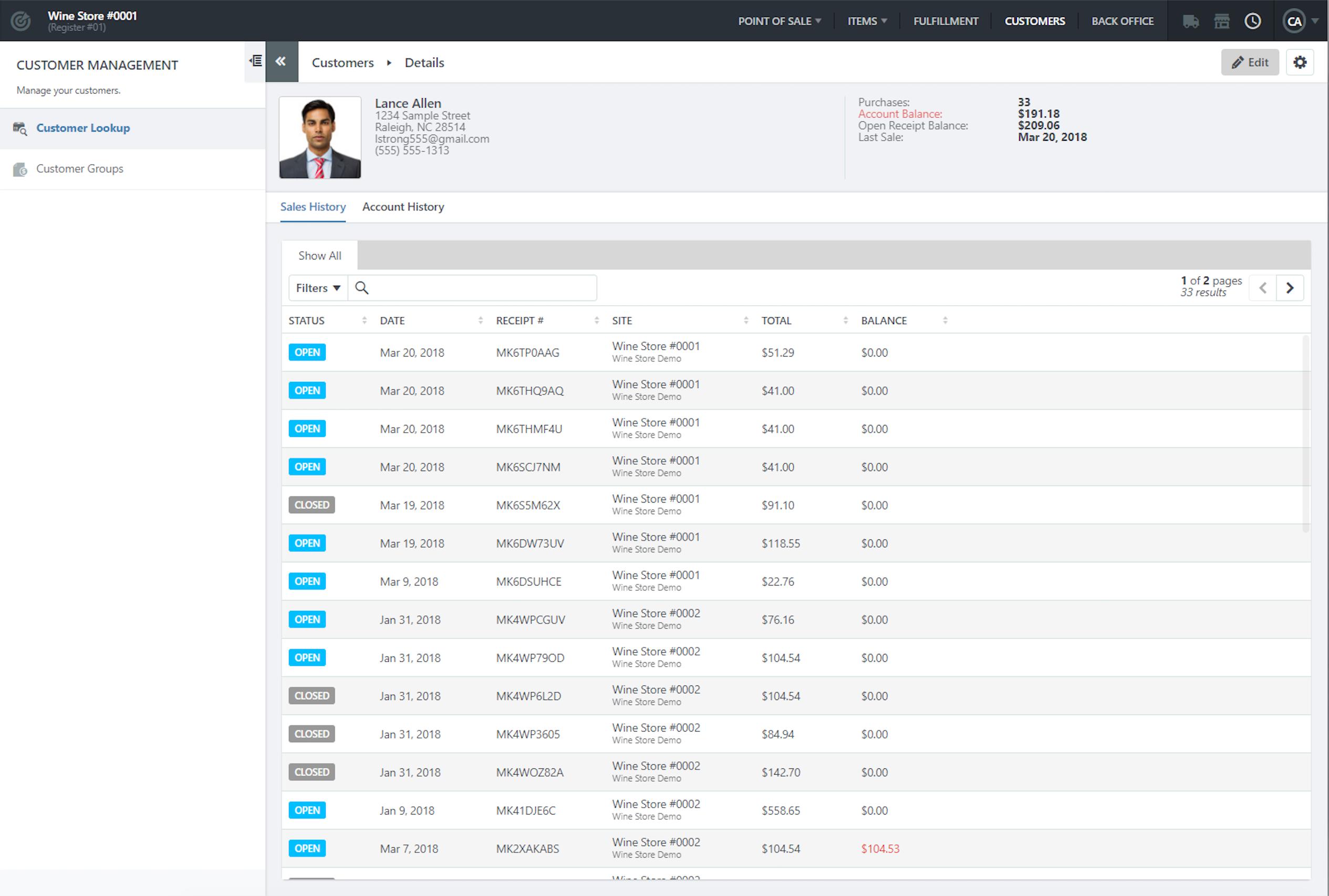 Unified Commerce Platform - Unified Commerce Platform - Customer view