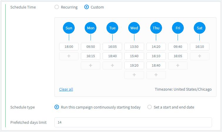 ContentStudio - Scheduling content