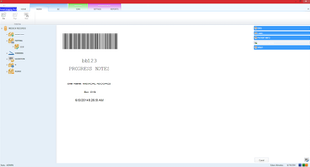 Patient barcode label for batch scanning