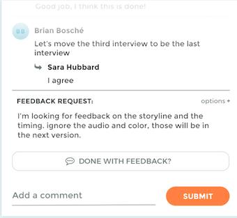 Feedback request