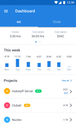 Mobile app dashboard