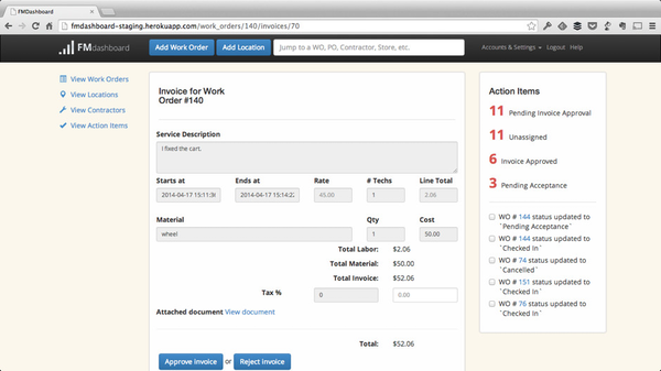 Built in invoice and quote management