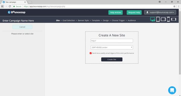 Create new landing pages