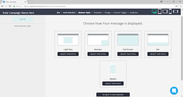 Choose message display style