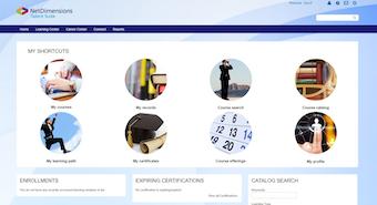 Learner homepage