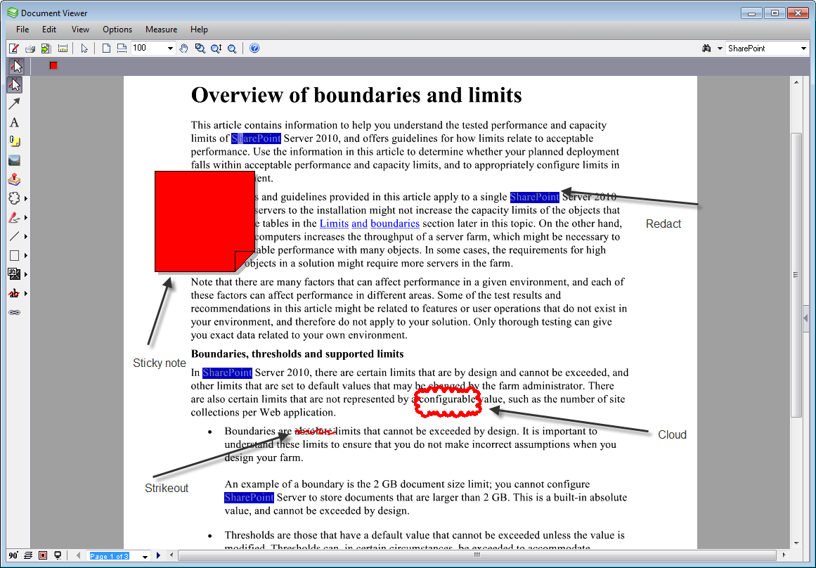 Redaction and security document viewer