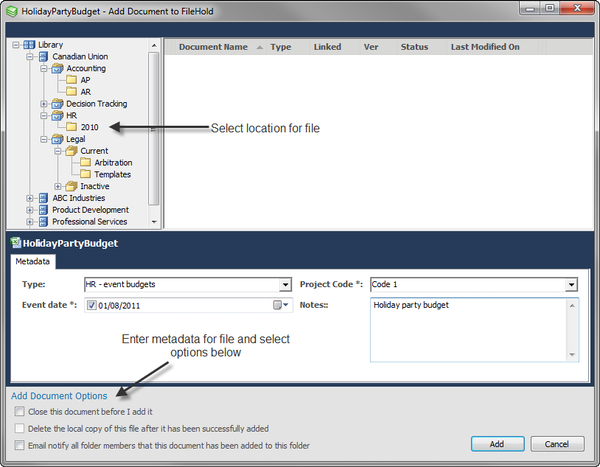 Microsoft Office application integration