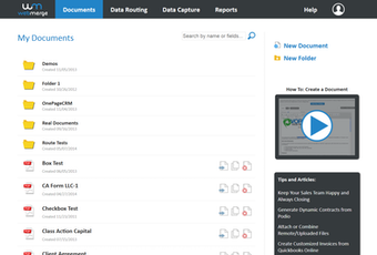 Manage documents from a dashboard