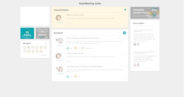 Applauz Recognition home page
