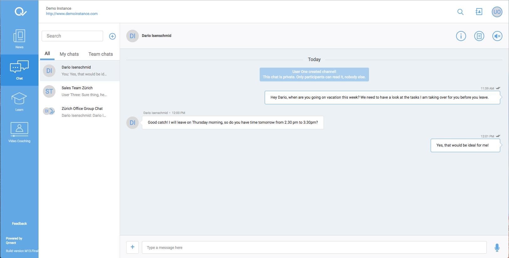 Chat window