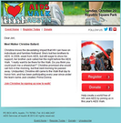 Charity walk marketing-donation form