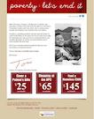Homeless shelter marketing-email