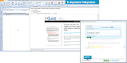 E-signature integration