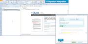 E-signature integration