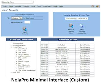 Customized minimal interface