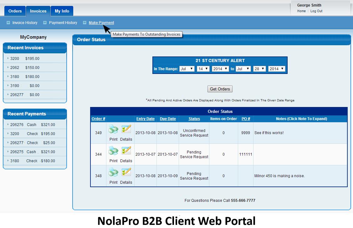 B2B Web portal