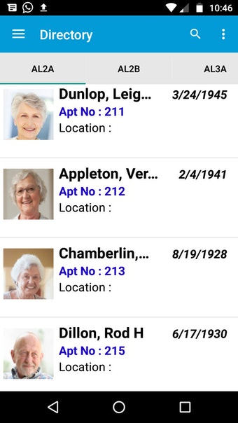 Resident directory