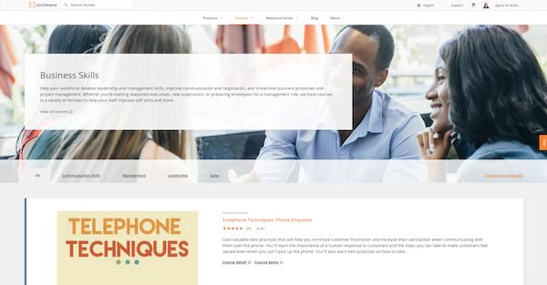 OpenSesame - Business skills category