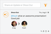 Shoutout feature