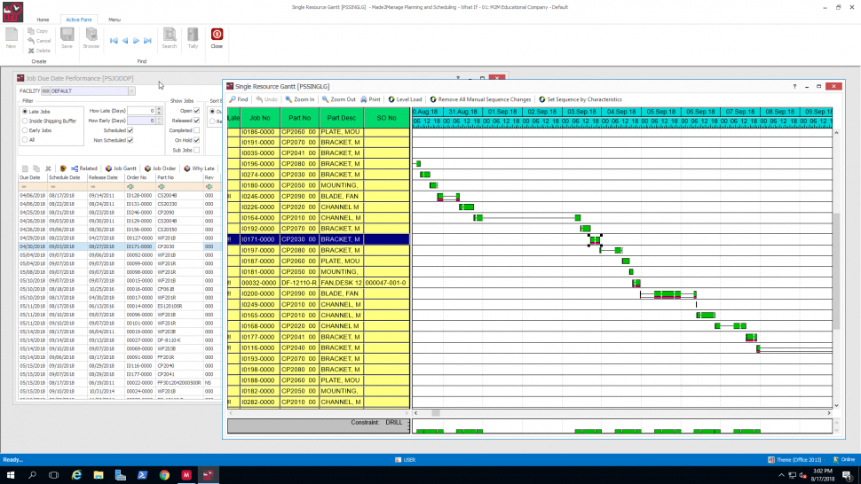 Made2Manage ERP - Advanced scheduling