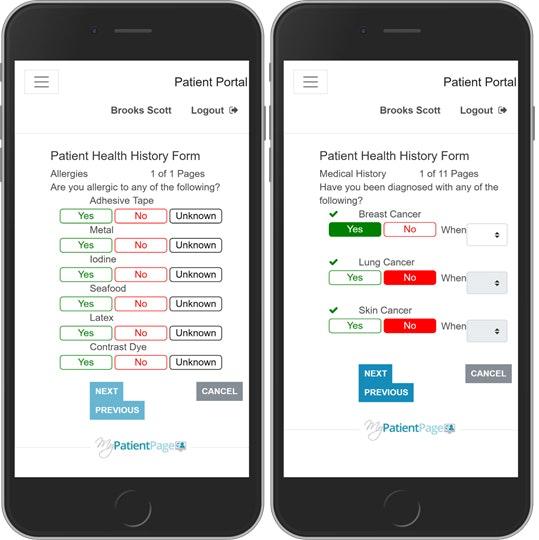 Patient portal mobile