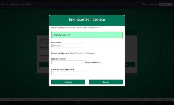 End user self-service