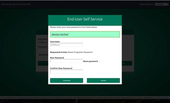 End user self-service