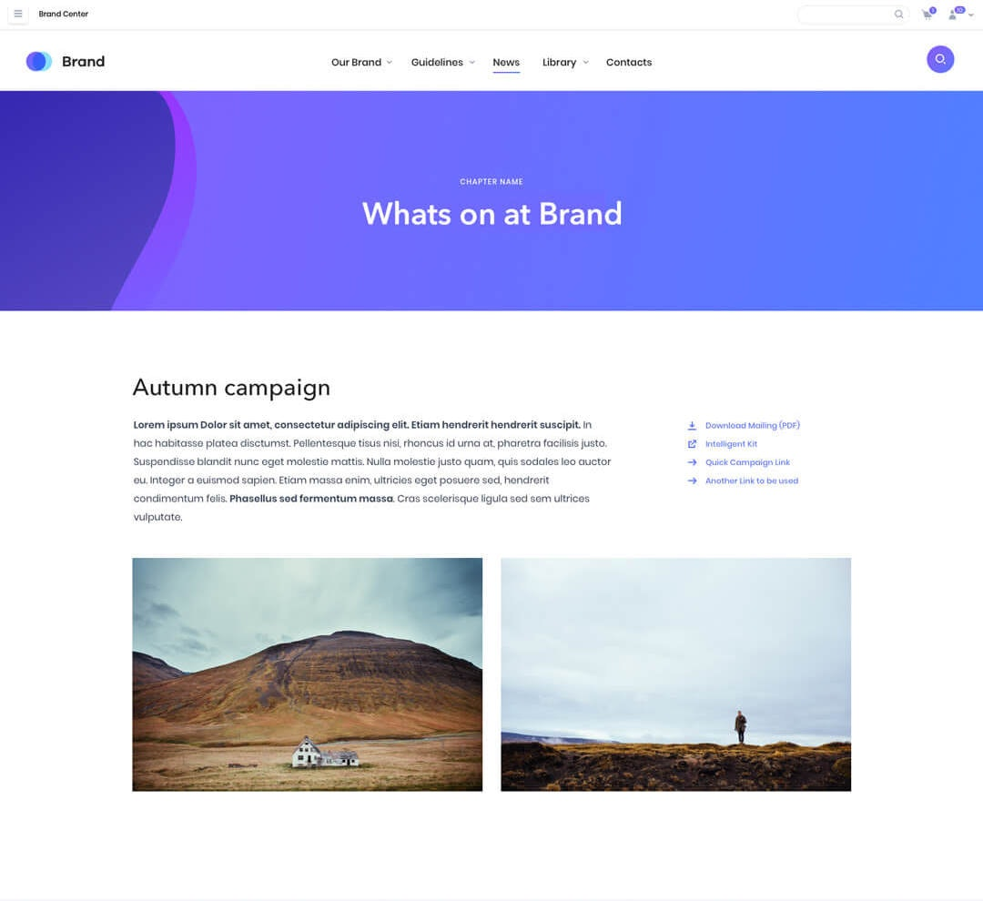 Brand home page