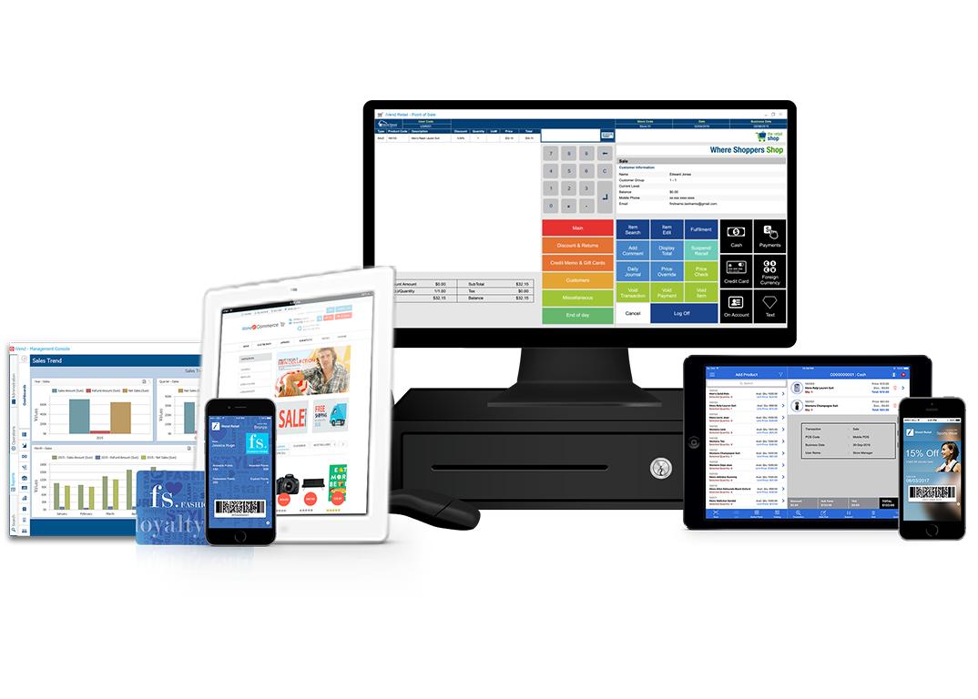 Integrated omnichannel retail management suite
