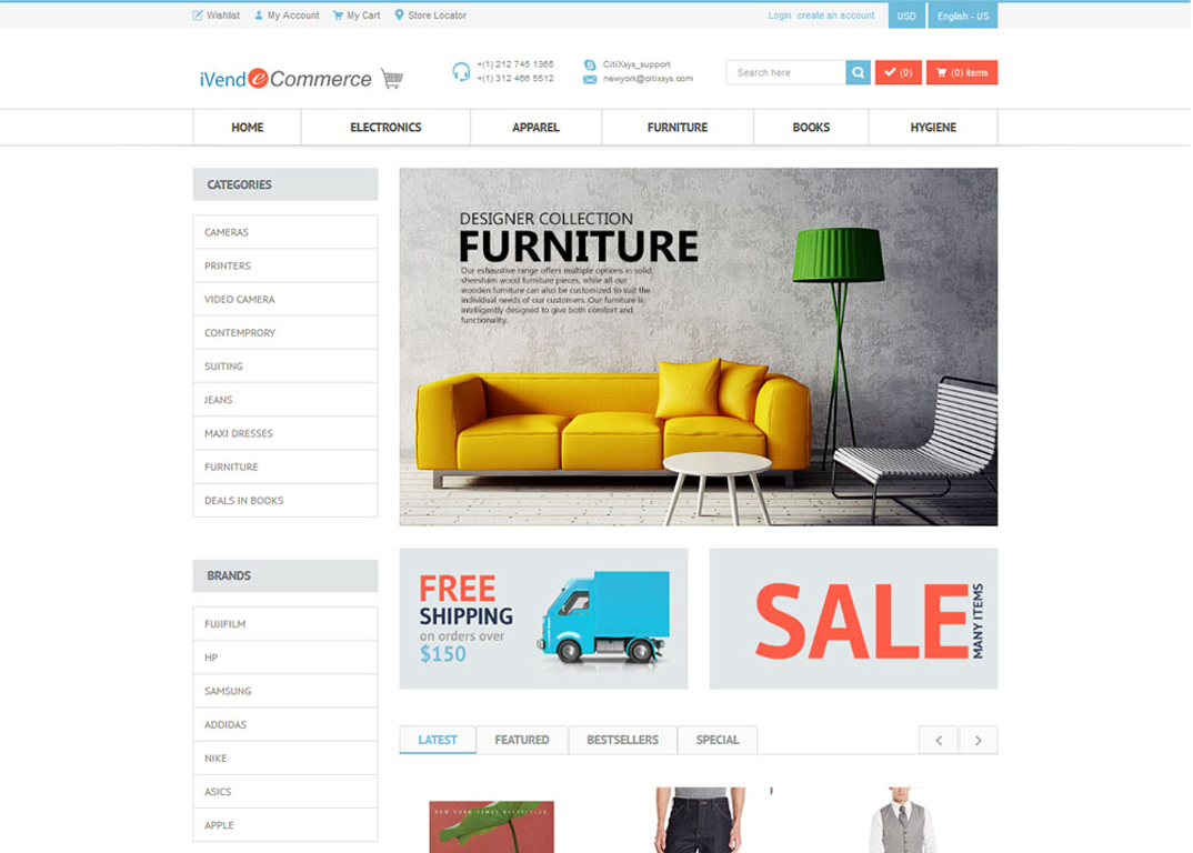 Integrated eCommerce storefronts