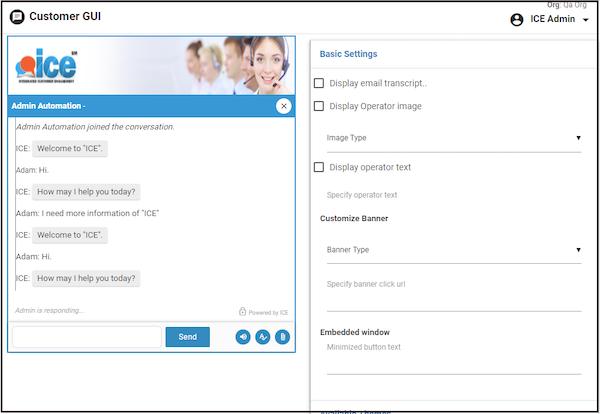 Customer chat window customization