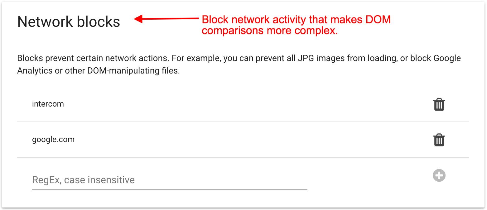 Network blocks