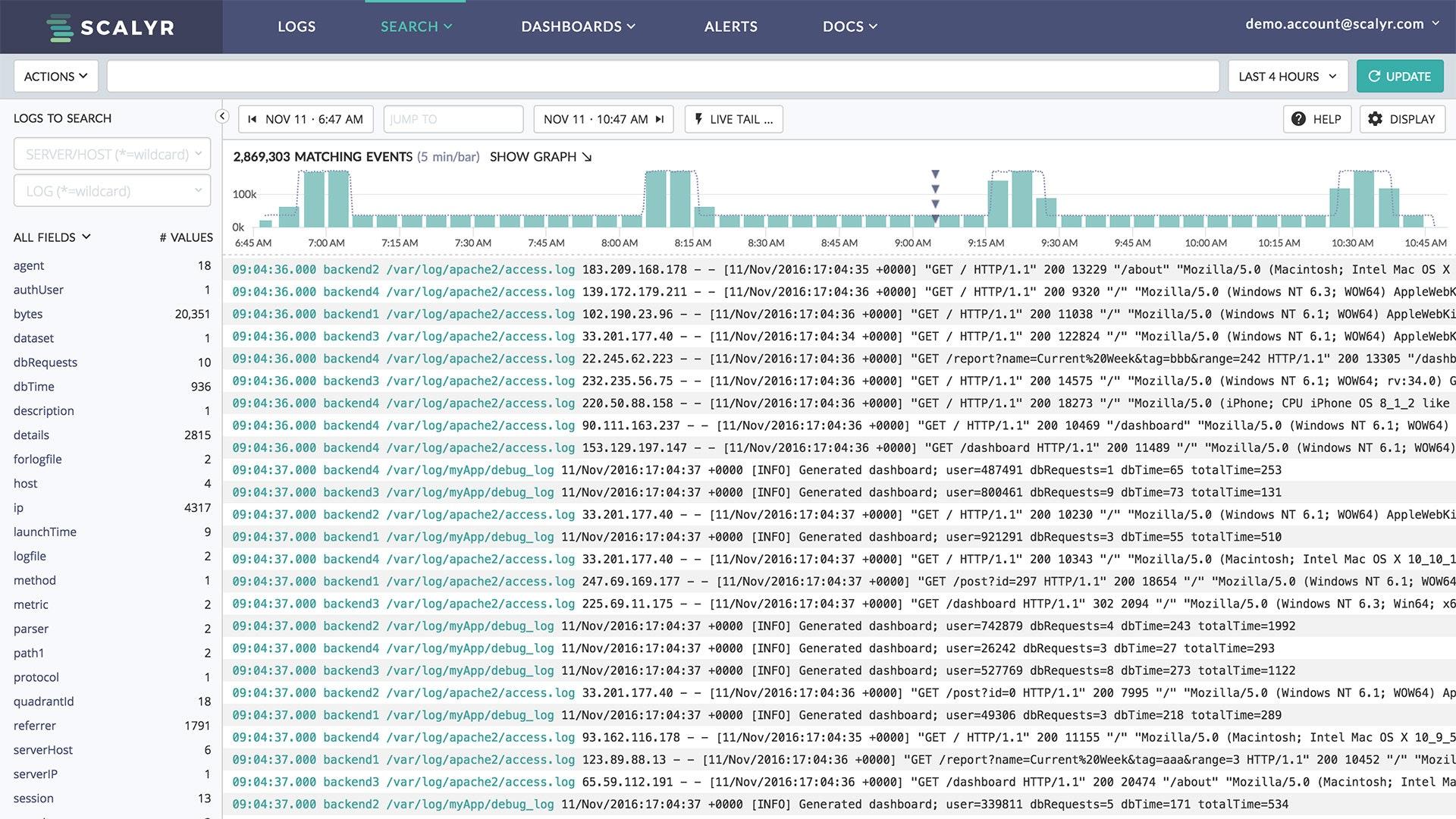 Log monitoring and aggregation