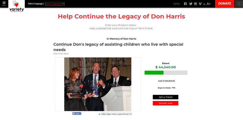 Display donations